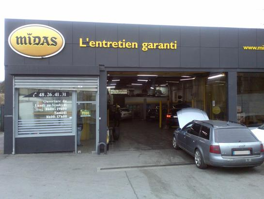 Garages auto midas sarcelles vidange r vision freins for Garage auto sarcelles