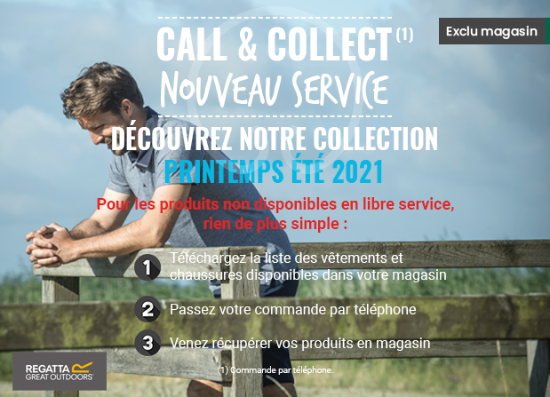 Nouveau click and collect vêtements chaussants