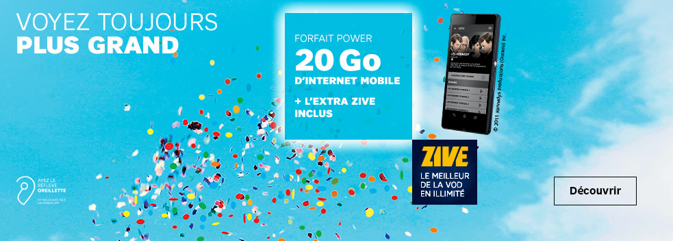 20 Go d'internet mobile