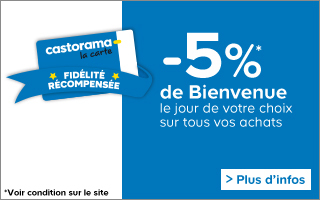 5% bienvenue carte