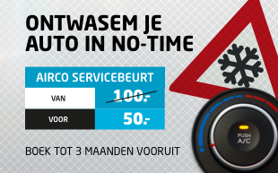 Airco Service 50 procent korting