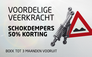 Schokdempers 50 procent korting