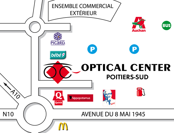 Voir le plan dtaill with auchan poitiers sud for Poitiers auchan sud